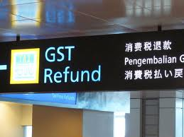 GST refund sign