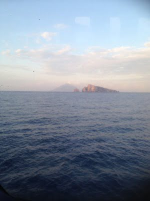 Island from the boat at dusk