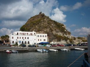 Approaching Volcano Aeolian Islands Sicily
