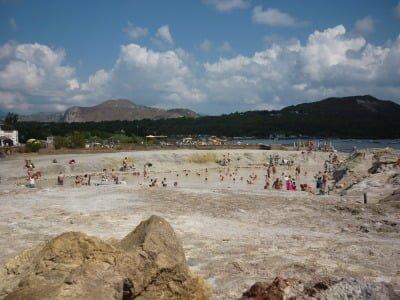 Distance view of mud bath