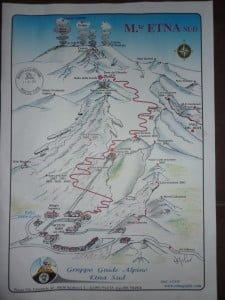 Mt Etna Sicily tour map