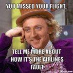Missed flight