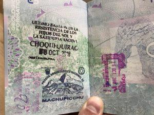 Choquequirao Trail Day 2 Passport stamp